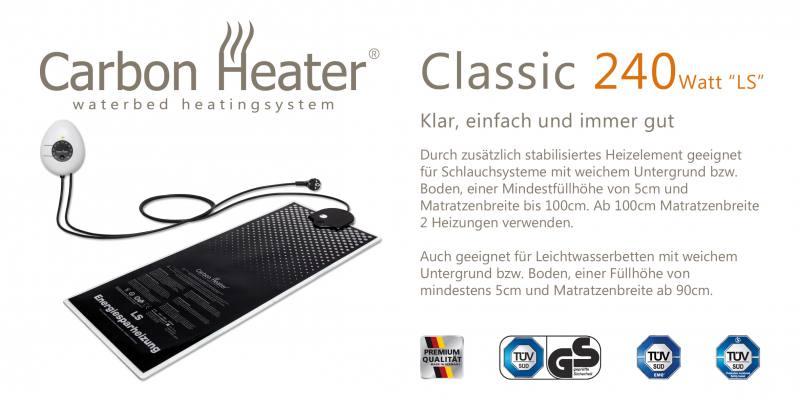 carbon heater classic wasserbettheizung t b d g nstig kaufen. Black Bedroom Furniture Sets. Home Design Ideas
